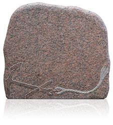 Felsen Vanga mit Ornament A3075 Bearbeitung: gebrannt