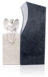 Grabdenkmal 10089* Orion und Atlantic Beige mit Ornament Engel Nr. 4