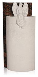 Grabdenkmal 7204 A* Aurindi und Atlantic Beige mit Ornament Engel Nr. 1