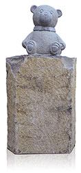 Kindergrabstein Basalt mit Ornament 9989*³ Bär
