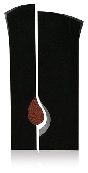Grabdenkmal 9914* Black und Imperial Red Werkstein Serie