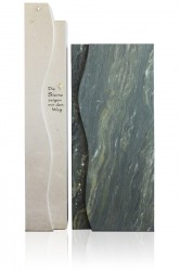 Grabdenkmal 10023*, Van Gogh und Atlantik Beige mit Ortnament A 6003 ZM Serie