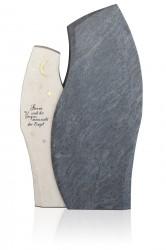 Grabdenkmal 10058 SP*, Orion und Atlantic Beige mit Ornament A 6010 Werkstein Serie