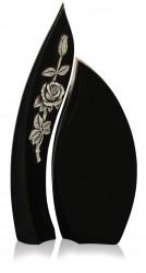 Grabdenkmal 9063* Super Black mit Ornament A3074 Werkstein Serie