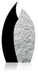 Grabdenkmal 9090 Wiscont White und Super Black