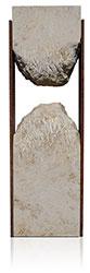 Grabdenkmal 9905* Jura Marmor mit Corten Stahl Werkstein Serie