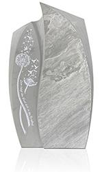 Grabdenkmal 9968* SP Oxford Grau Spalt mit Ornament A 6018 Werkstein Serie