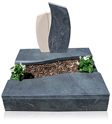 Grabanlage 4524 Alexandria und Atlantic Beige mit Grabdenkmal 9968*