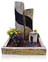 Grabanlage 4526 Basalt mit Grabdenkmal 10081