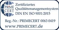 Zertifizierungslogo 9001
